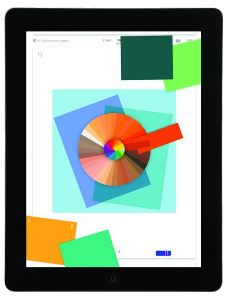 Albers colour wheel