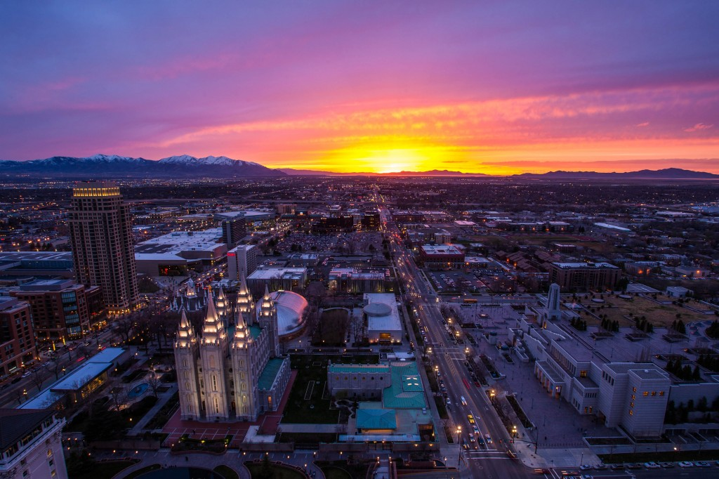 Sunset over Salt Lake City