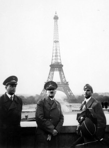 Hitler visits Paris with Speer (left).