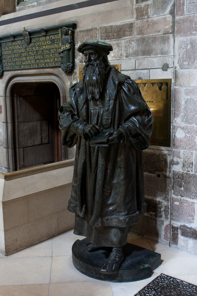 Statue of John Knox in New College quad, Edinburgh