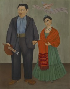 Frieda and Diego Rivera, Frida Kahlo, 1931, oil on canvas, San Francisco Museum of Modern Art, Albert M. Bender Collection, Gift of Albert M. Bender © 2014 Banco de México Diego Rivera Frida Kahlo Museums Trust, Mexico, D.F. / Artists Rights Society (ARS), New York