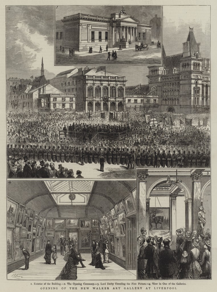 Opening of the New Walker Art Gallery at Liverpool. Illustration for The Graphic, 15 September 1877.