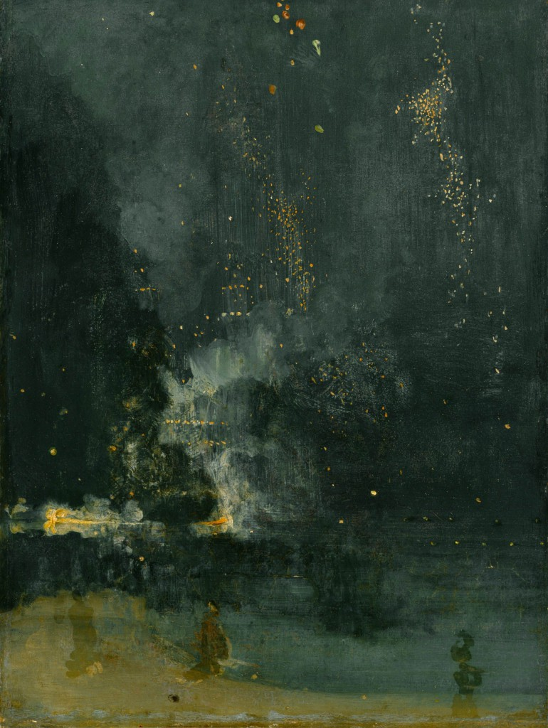 James McNeill Whistler (1834–1903). Nocturne in Black and Gold: The Falling Rocket, 1875. Oil on panel. Detroit Institute of Arts; Gift of Dexter M. Ferry, Jr.