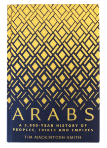 Book cover design of Tim Mackintosh-Smith's 'Arabs'