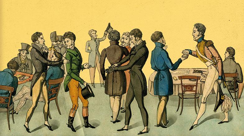 Regency Gentlemen illustration from the cover